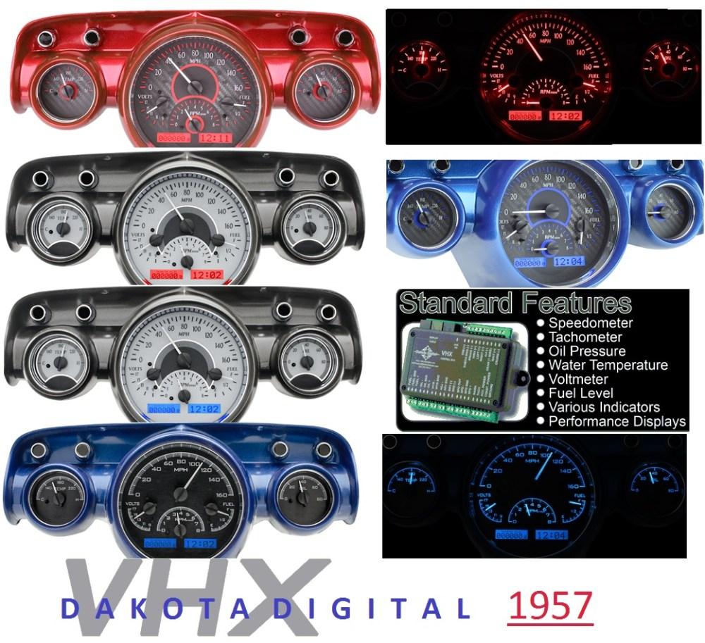 medium resolution of 1957 dakota digital new gauges new parts 1957 dakota digital new gauges 57 chevy under hood wiring harness