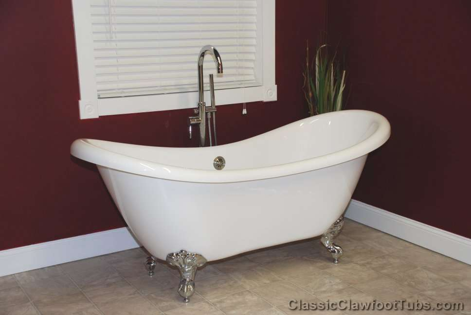 69 Acrylic Double Ended Slipper Clawfoot Tub Classic