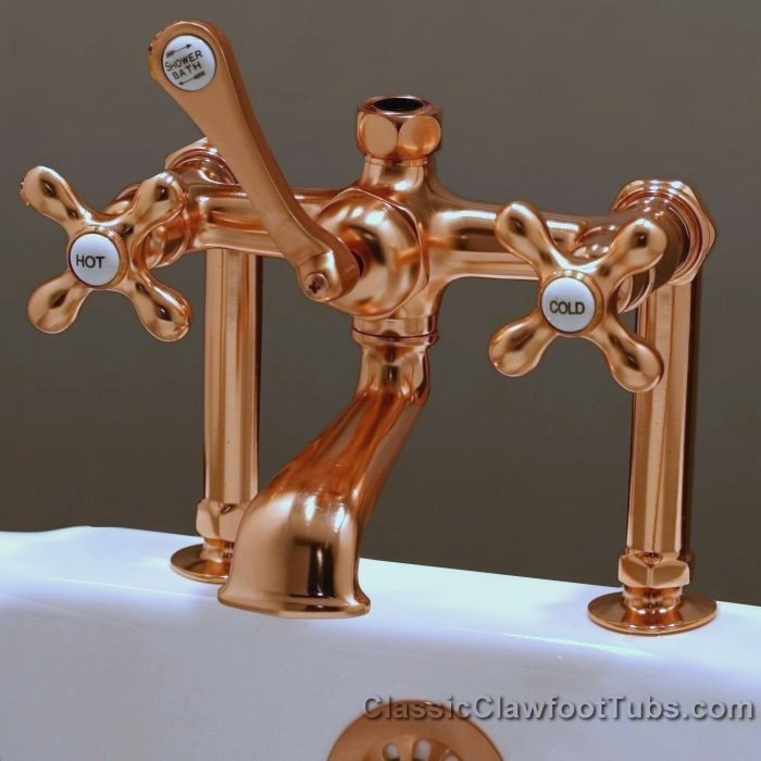 clawfoot tub deckmount british