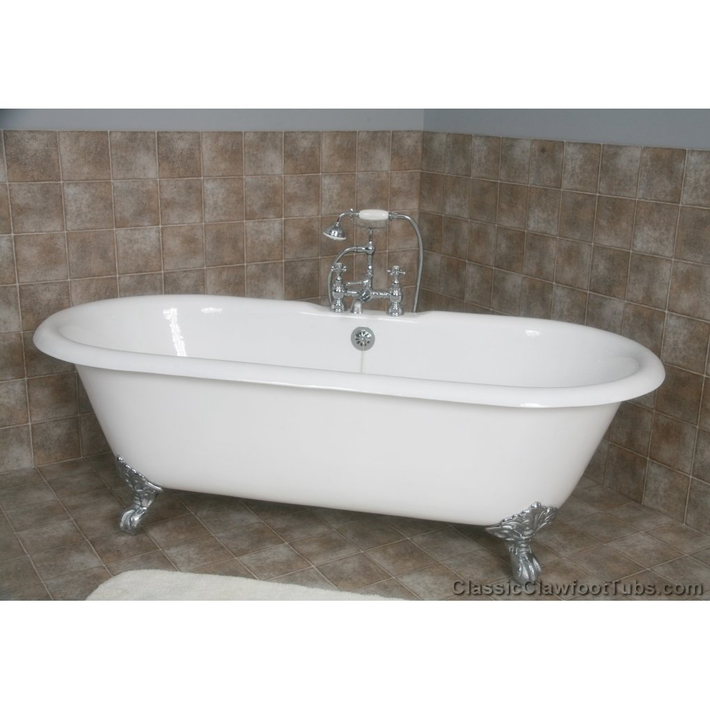 67 Cast Iron Double Ended Clawfoot Tub  Classic Clawfoot Tub
