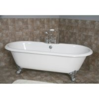 "67"" Cast Iron Double Ended Clawfoot Tub 