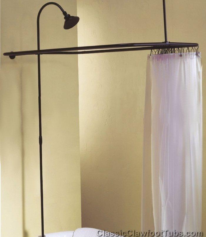 Clawfoot Tub Shower Enclosure Combo No Faucet Classic