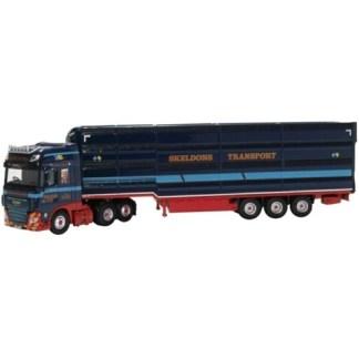 Oxford 1/76 DAF XF EURO 6 LIVESTOCK TRANSPORTER SKELDONS