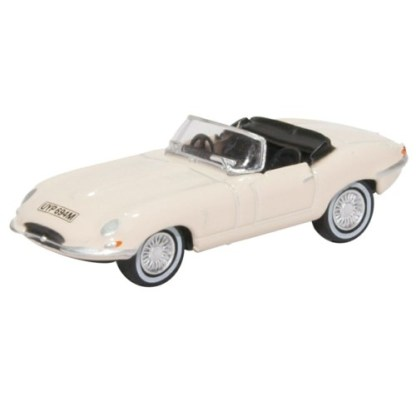 Oxford Models 1-76 Jaguar E-Type in White