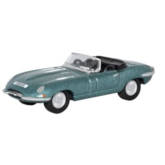 Oxford Models 1-76 Jaguar E-Type in Silver Blue