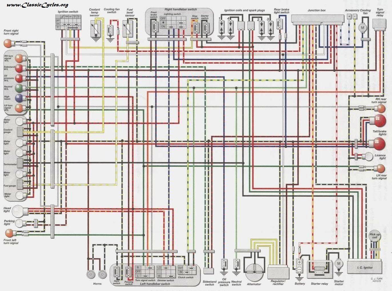motorcycle alarm system wiring diagram golf cart battery ez go 1989 kawasaki diagrams