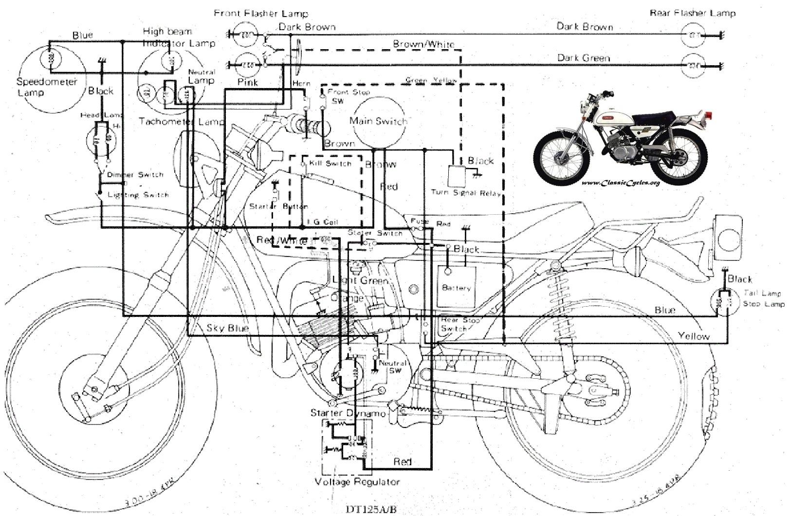 Yamaha Motorcycle Wiring Diagrams