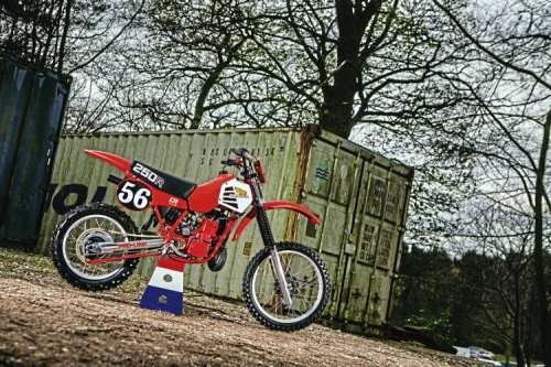 Amid the faded storage units at Stafford, Steve Parkins' Honda brings a touch of the exotic.