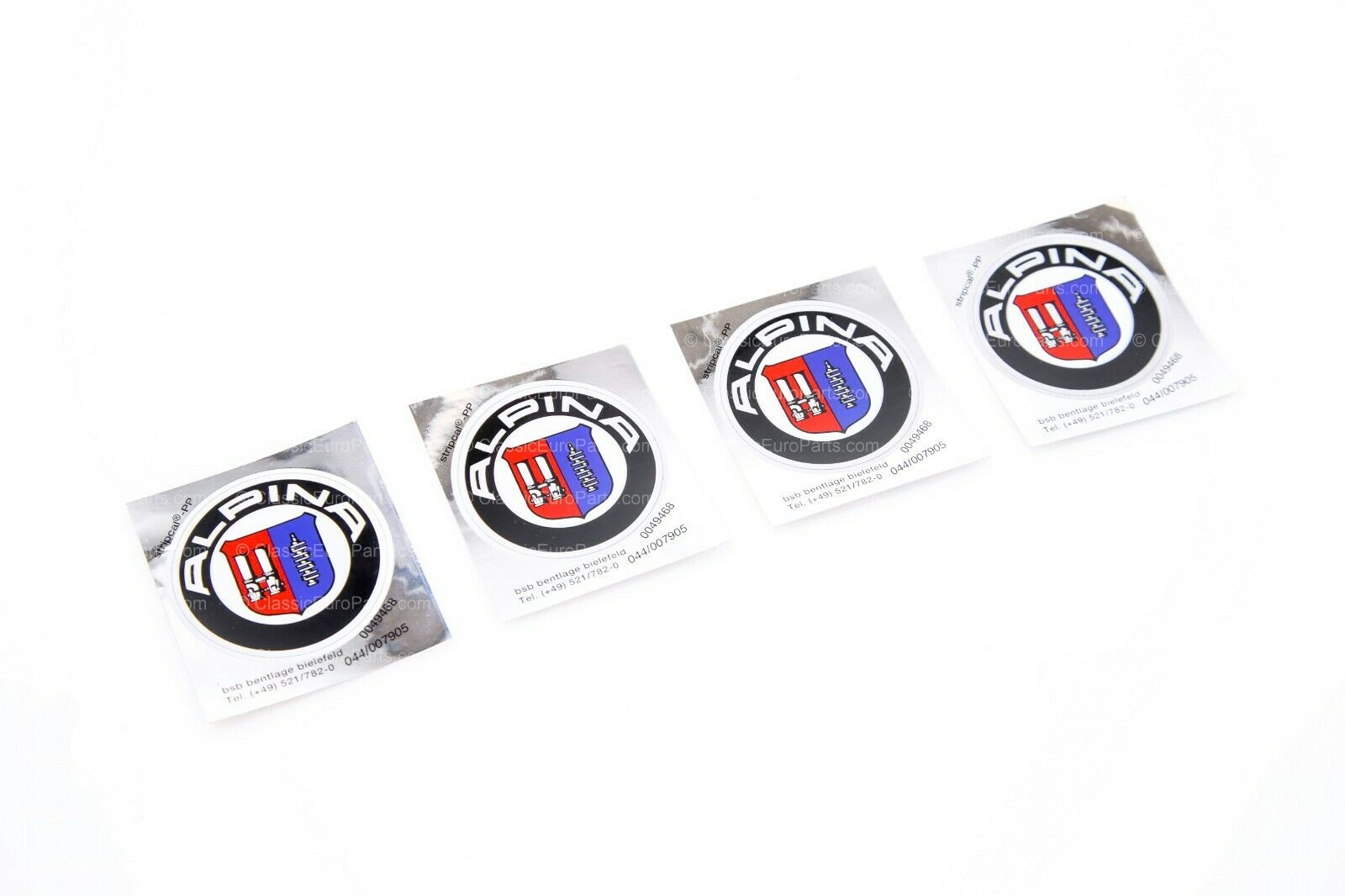 Wheel center stickers / badges for Alpina wheels made from