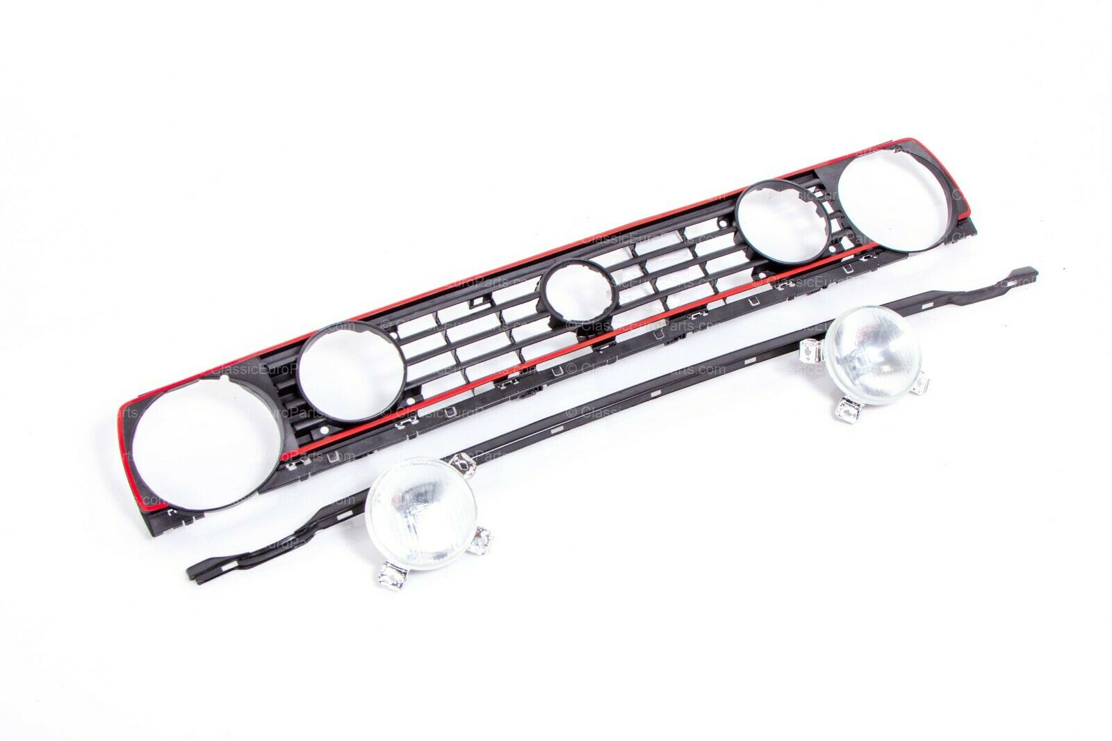 Euro grill + headlight & fog light set for Golf / Rabbit
