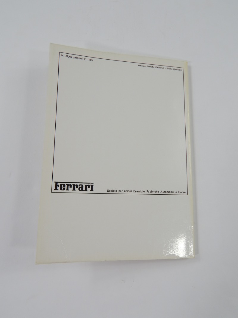 Ferrari 330 365 GTC Owner's Manual with Supplement