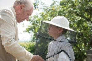 2015 Mr Holmes Milo Parker and Ian McKellen bees