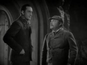1939 Hound of the Baskervilles Basil Rathbone and Nigel Bruce
