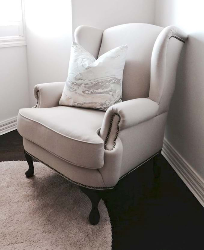 Wing Chair Arm Chair Lounge Chair Chesterfield Tufted