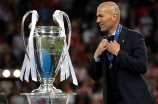 Zinedine Zidane has won the Champions League four times at Real Madrid - three times as manager and once as a player