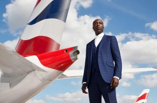 OZWALD BOATENG PHOTOGRAPHED BY NEALE HAYNES AT LONDON HEATHROW SEPT 2018 -- Photo Credit: British Airways