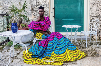 Beautiful Editorial Shoot With Fabulous Model In Eye Popping Gown By Lavie By CK