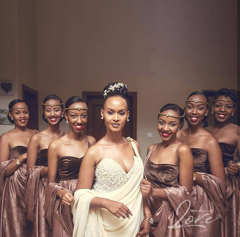 Rwandan Brides & Bridesmaids And Their Beautiful Shoulder