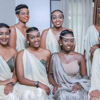 Rwandan Brides & Bridesmaids And Their Beautiful Shoulder Style Fashion