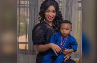 Tonto Dikeh and her son Andre