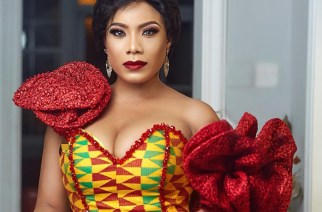 Zynelle Zuh In a Fabulous Kente Fishtail Dress At The Ghana Women Of The Year Honours 2019