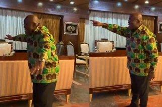 President Akufo-Addo celebrating Tottenham Hotspur's win