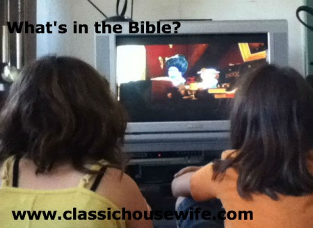 Kids watching What's in the Bible DVD