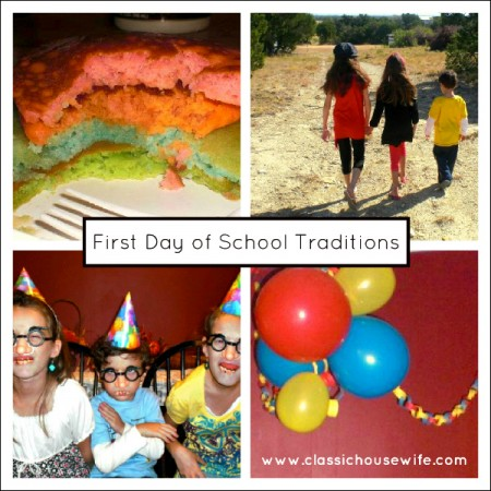 First Day of School Traditions