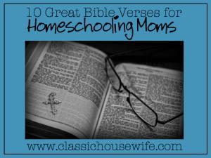 bible verse for homeschooling