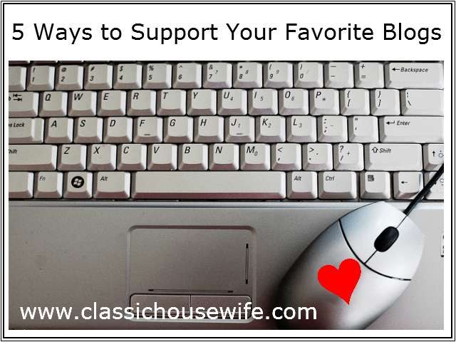How to support your favorite bloggers
