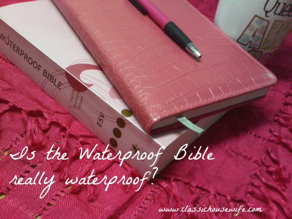 Waterproof Bible Test and Video Review