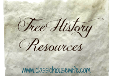 free history resources for homeschool