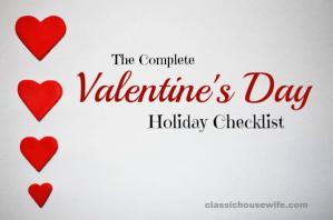 Complete Valentine's Day Checklist