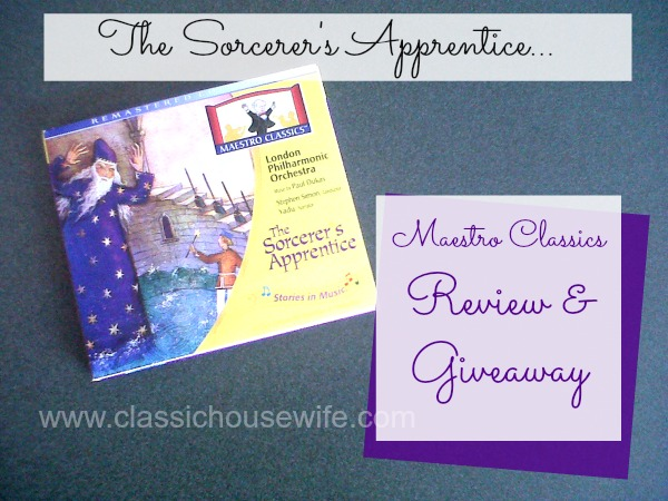A review and giveaway of The Sorcerer's Apprentice by Maestro Classics