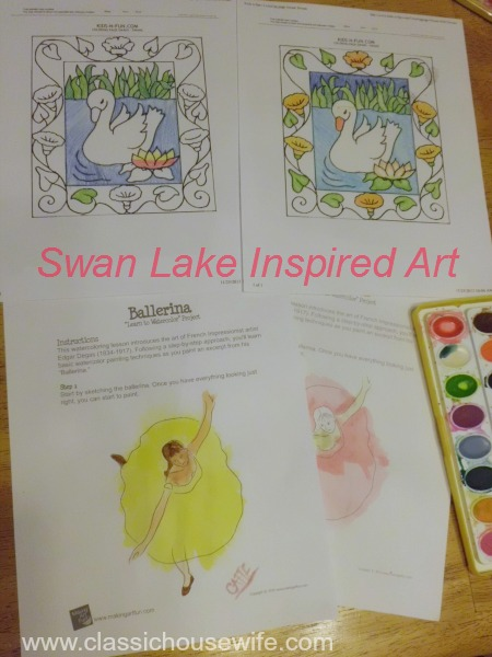 Swan Lake Inspired Art