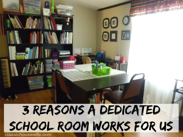 dedicated homeschool room