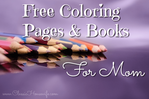 Free Coloring Books For Mom
