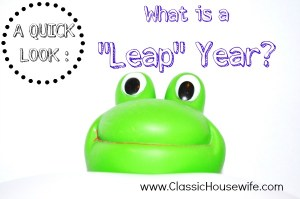 Leap Year Study Homeschool
