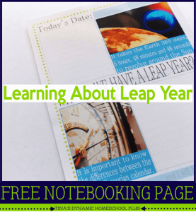 Learning-about-Leap-Year-free-notebooking-Page