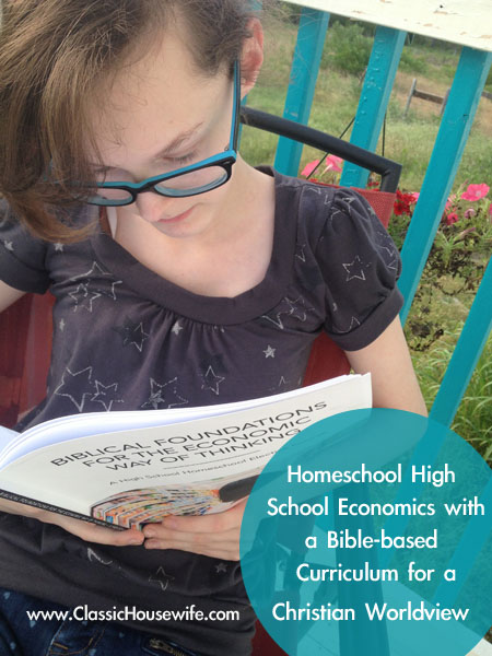 Homeschool High School Economics Bible Christian