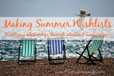 Making Summer Wishlists