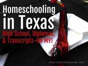 homeschooling in texas high school diploma transcript