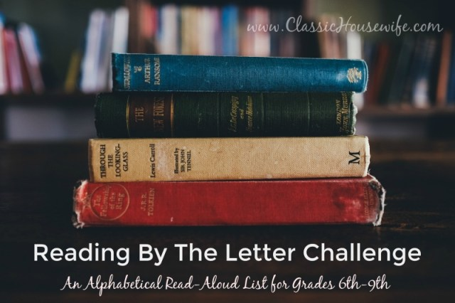 Reading By The Letter Challenge