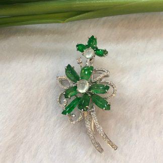 jade pendant/ brooch