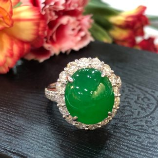 imperial green jade ring