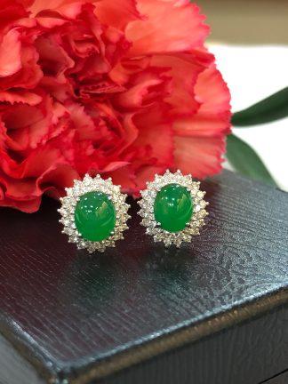 imperial green jade earrings
