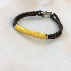 pure gold heart sutra bracelet