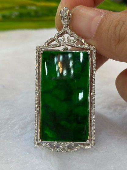imperial green jade pendant