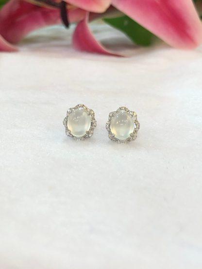glassy jade earrings