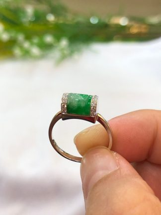 green jade Ruyi ring